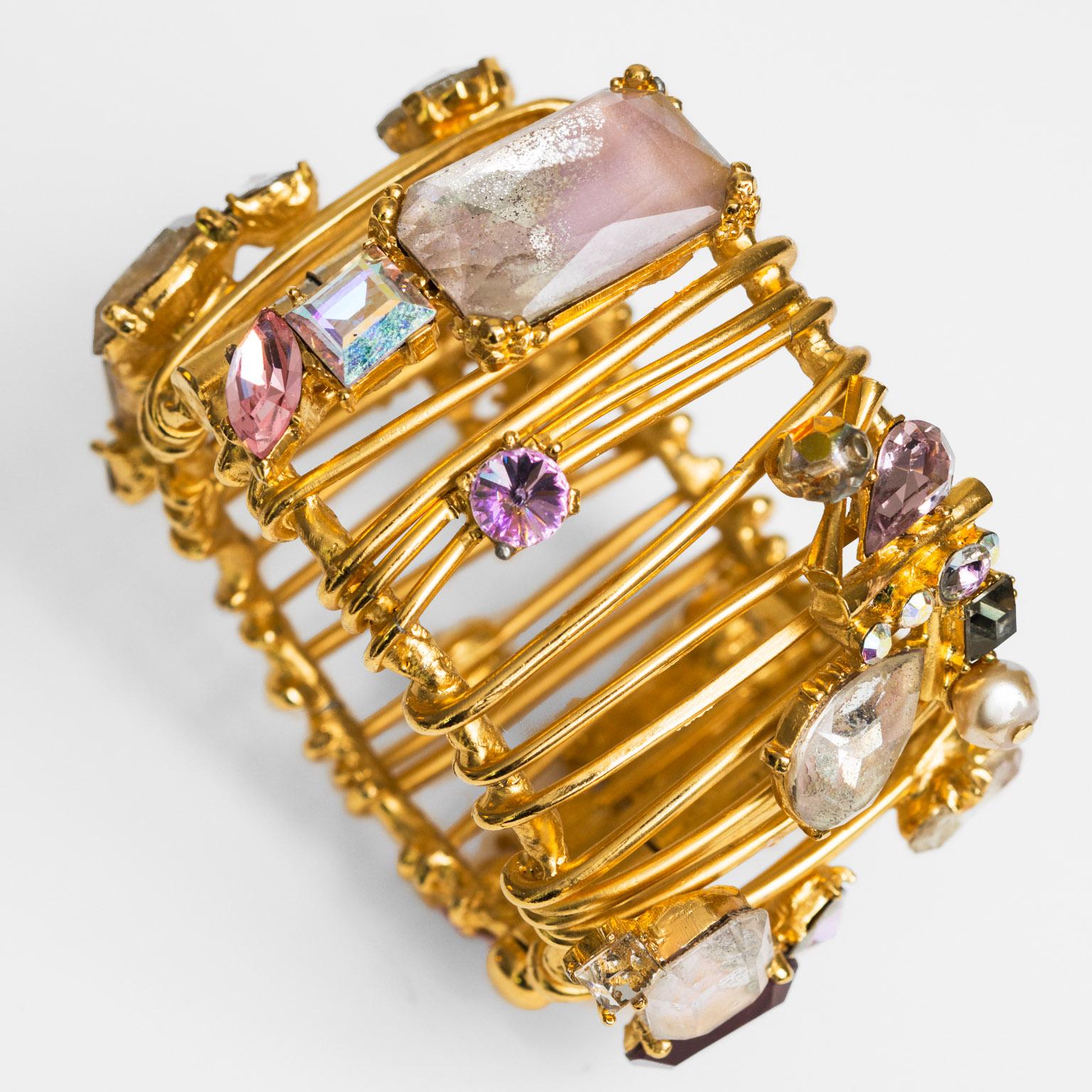 christian lacroix bracelet cage vintage fashion paris. Black Bedroom Furniture Sets. Home Design Ideas